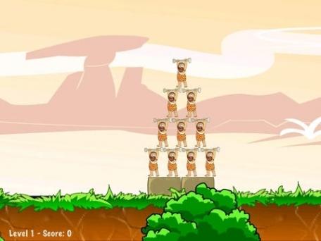 A Caveman Knock Down Free - Addictive Physics Fun Arcade War Battle Games
