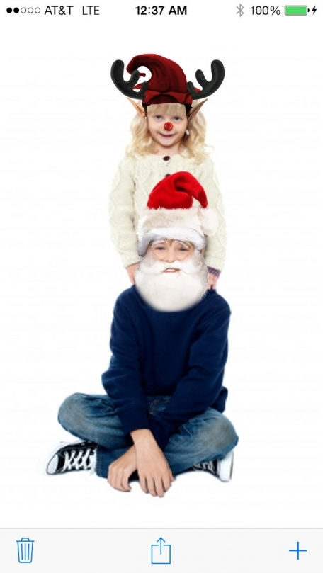 A Christmas Pic Booth: Free Xmas Photo Fun with Festive Santa, Elf, Reindeer, Snowman, and More Face Blending Effects