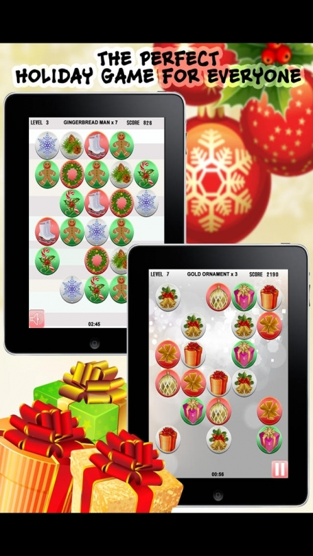 A Christmas Seasons Holiday Pop Match Puzzle Game - Free Version