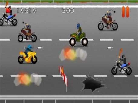 A Clash of Angry Harlem Bikers - Oldschool Bike Race Shooting Game