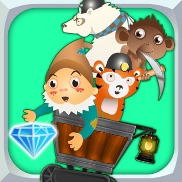 A Despicable Gnome & Friends Diamond Rush - Free Rail Miner Race Game