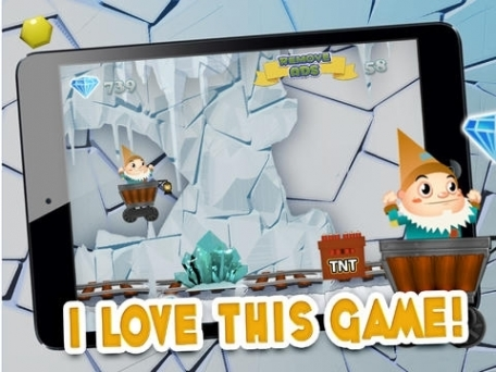 A Despicable Gnome & Friends Diamond Rush - Free Rail Miner Race Game