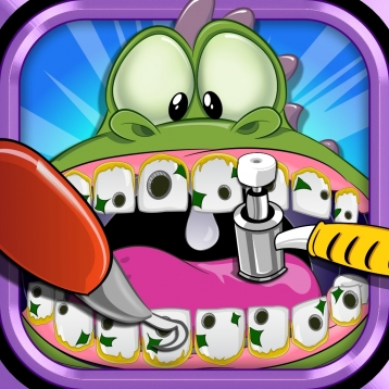 A Dino Dentist Dinosaur Doctor - Kids Comic Book Celebrities Makeover Games Free