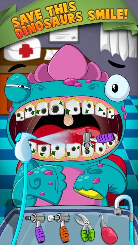 A Dino Dentist Dinosaur Doctor - Kids Comic Book Celebrities Makeover Games Free