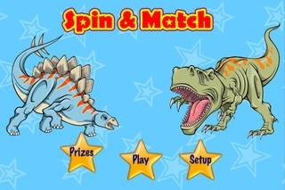 A Dinosaur Spin & Match Game - Kids Picture Memory Cards