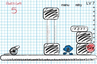 A Doodle Cannonball Physics Game