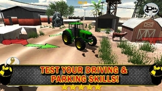 A Farm Tractor 3D Parking Simulator - Live Animals Mania Games Edition
