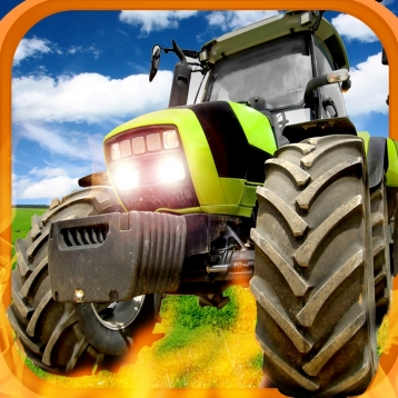A Farm War Combat Run: Speed Tractor Racing Game