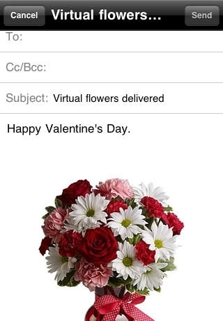 A Flower Email - Deliver Virtual Flowers Instantly via Email for Valentine's Day
