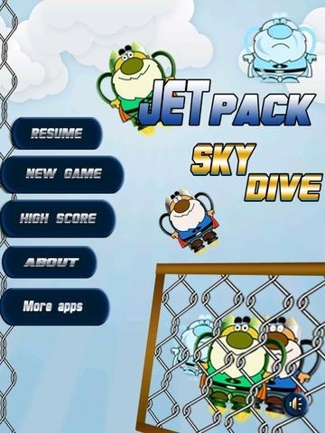A jetpack Base Jump