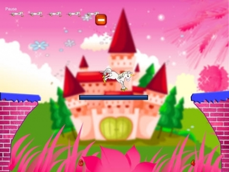 A Magical Unicorn Crossing Pony Jumping Skill Game