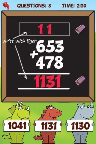 A Math Regrouping App: Addition and Subtraction