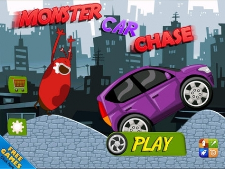 A Monster Car Chase Free Hill Racing Escape