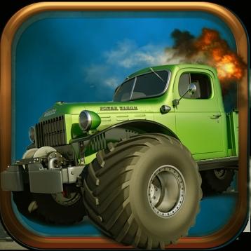 A Monster Truck Mayhem Race