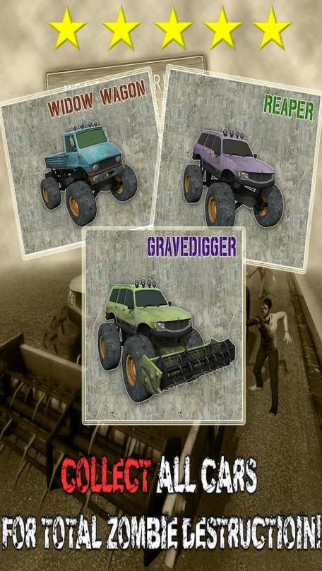 A Monster Truck Road Warrior in Zombie City - 3D