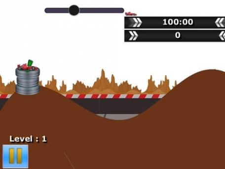 A Nitro Can Racing While Jumping hills