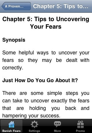 A Proven Road Map To Banish Fears