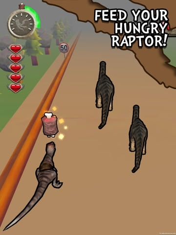 A Raptor Rush! Running with Dinosaurs