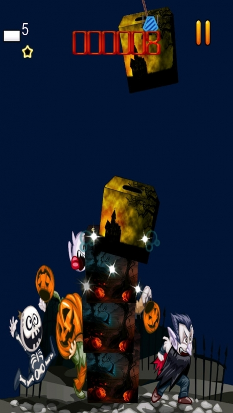 A Scary Halloween Blocks Game