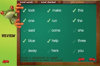 A Sight Words Read and Spell app with checkmark and review - FREE