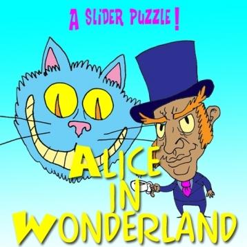 A Slider Puzzle - Alice in Wonderland