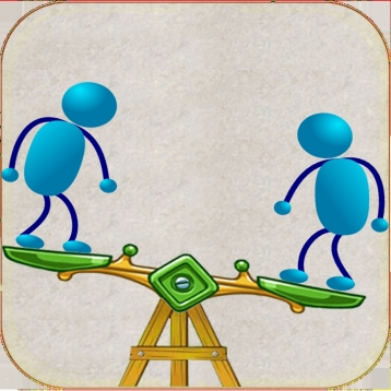 A Stickman See Saw Free Physics Jumping Games