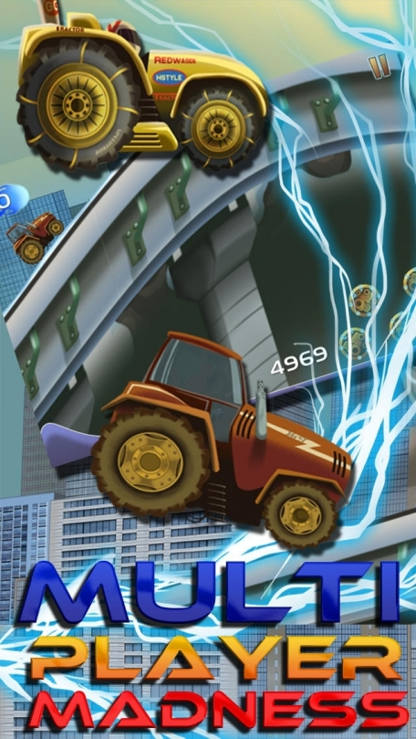 A Street Tractor Speed Race - Free City Run Racing Game
