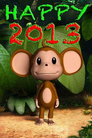 A  Talking Baby Monkey   - 2013 Happy New Year