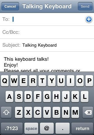 A+ Talking Email Keyboard (Type while on the Road!)