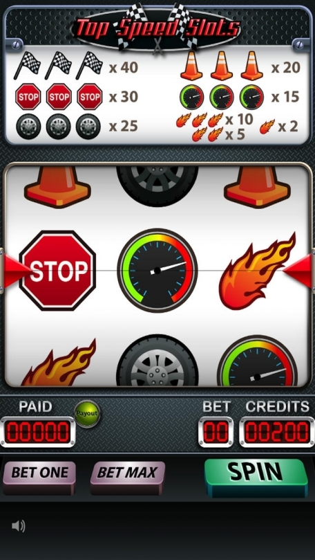 A Top Speed Racing Slots Game