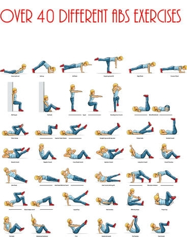 Ab fitness exercises - Lose belly fat and get abs