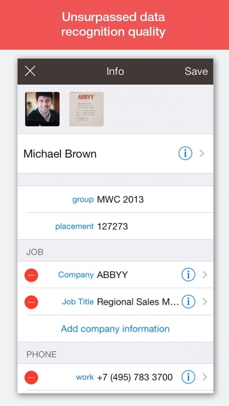 ABBYY Business Card Reader Professional Edition