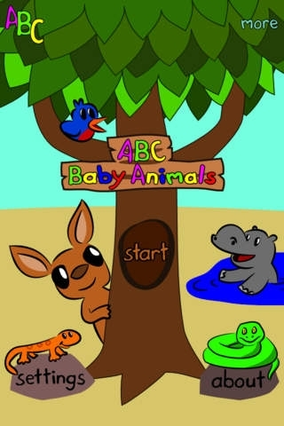 ABC Baby Animals - Alphabet Flash Cards in English