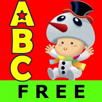 ABC Christmas Nursery Rhymes Free Lite -Talking Voice Alphabet Flashcards Kids Games
