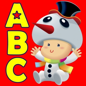 ABC Christmas Nursery Rhymes -Talking Voice Alphabet Flashcards Kids Games