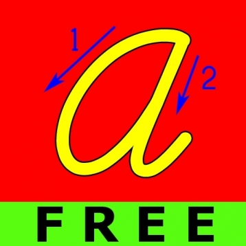 ABC Cursive Big Trace Free Lite