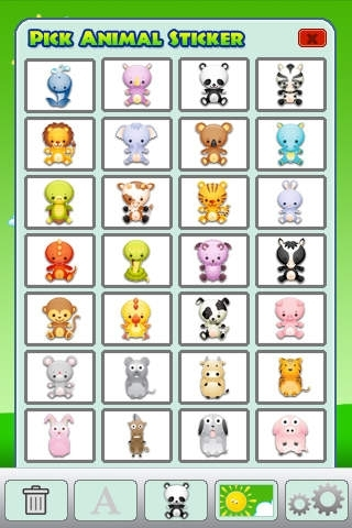 ABC Cute Animals Stickers Free Lite