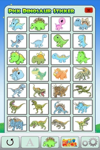ABC Dinosaur Stickers Art Free Lite