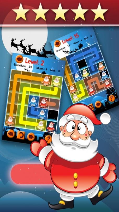 Abe Santa Snow Flow - Christmas Connect Game