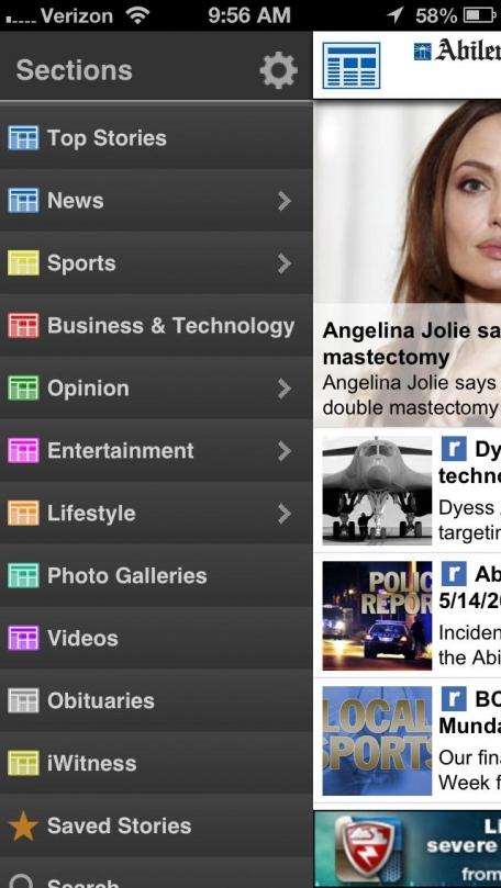Abilene Reporter-News for iPhone  - Abilene, Texas