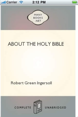 About the Holy Bible by Robert Green Ingersoll-iRead Series