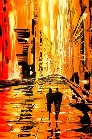 Abstract Cityscapes by Milen