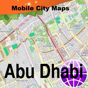 Abu Dhabi Street Map.