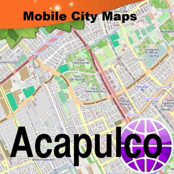 Acapulco Street Map