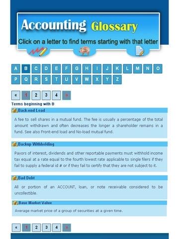 Accounting Glossary