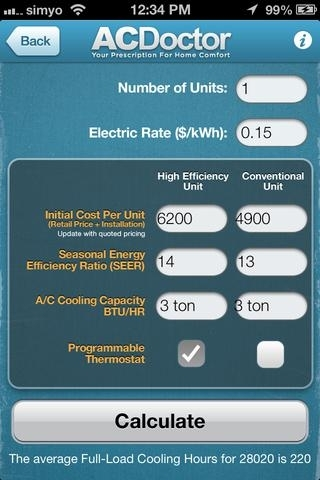ACDoctor's High Efficiency HVAC Savings Calculator