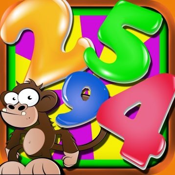 Ace Monkey Mayhem Puzzles Free - Math Numbers Crossword Games