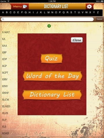 Acronym Dictionary and Challenge Quiz