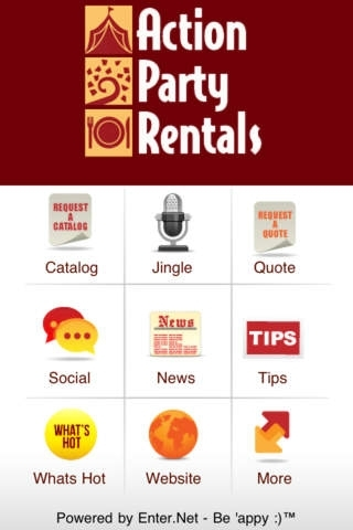 Action Party Rentals Event Planner