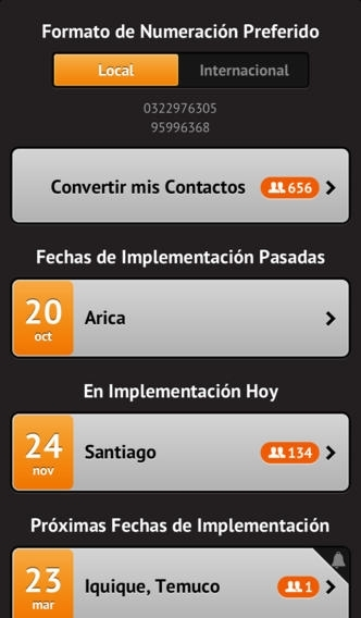 Actualizar Contactos Chile
